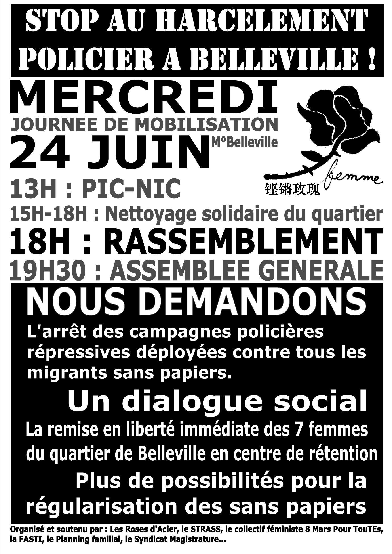 affiche belleville 24 juin
