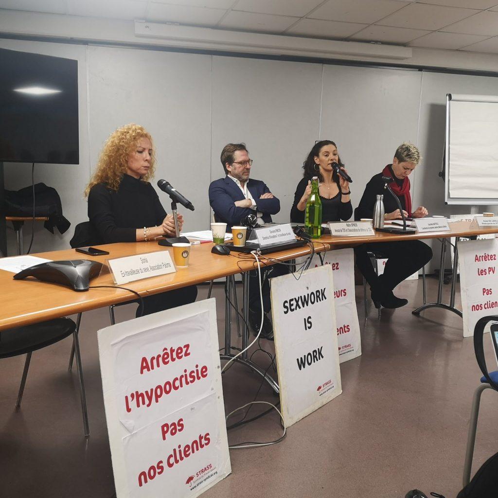 Discours du STRASS lors de la conférence de presse annonçant le recours devant la CEDH